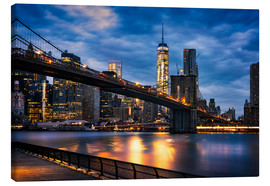 Canvas print  New York City - beautiful sunrise over manhattan