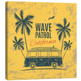 Canvas print  Wave Patrol California