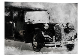 Foam board print  Classic Car - black - LoRo-Art