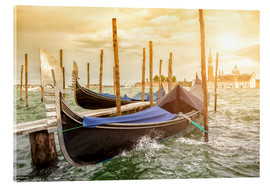 Acrylic print  Gondolas in the wind
