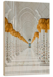 Wood print  Detail of Sheikh Zayed Mosque