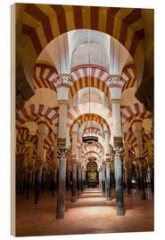 Wood print  Great Mosque of Cordoba - La Mezquita