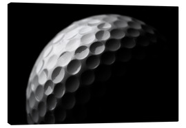 Canvas print  Golf ball in the macro
