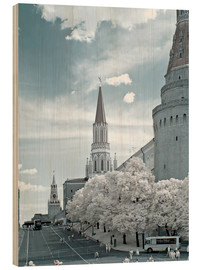 Wood print  Kremlin towers