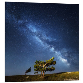 Foam board print  Milky Way in Crimea
