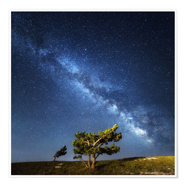 Premium poster  Milky Way in Crimea