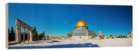 Wood print  Dome of the Rock mosque in Jerusalem, Israel