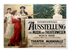 Premium poster International Exhibition of Music and Drama beings