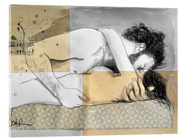 Acrylic print  lovers on a patterned mattress - Loui Jover