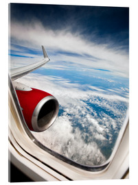 Acrylic print  View from the airplane