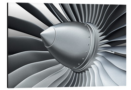 Aluminium print  Detail of a propeller