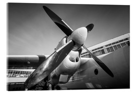 Acrylic print  Engine of a propeller-driven aircraft