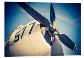 Acrylic print  Propeller of a military plane