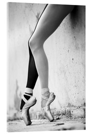 Acrylic print  Ballet in black and white