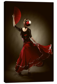 Canvas print  Flamenco dancer