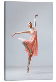 Canvas print  Ballerina in apricot