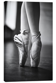 Canvas print  Feet of a dancer