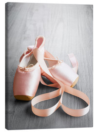 Canvas print  pink ballet shoes