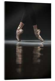 Acrylic print  The legs of the ballerina