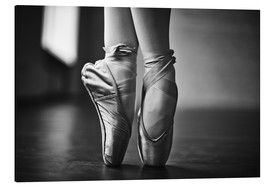 Aluminium print  Ballerina feet during the trial