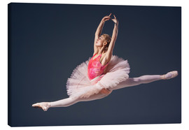 Canvas print  Pink Tutu and Pointe Shoes