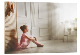 Acrylic print  Little ballerina - big dreams