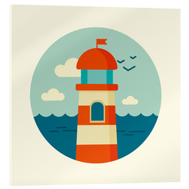 Acrylic glass  Lighthouse in a circle - Kidz Collection