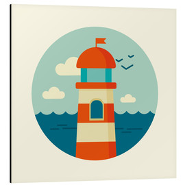 Aluminium print  Lighthouse in a circle - Kidz Collection