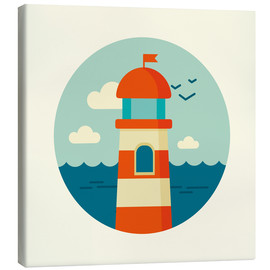 Canvas print  Lighthouse in a circle - Kidz Collection