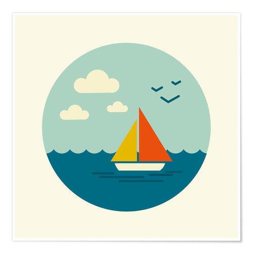 Premium poster Little sailboat