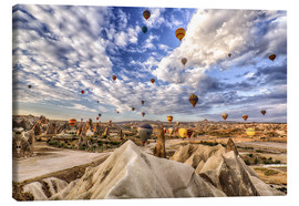 Canvas print  Balloon spectacle Cappadocia - Turkey - Achim Thomae