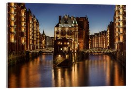 Acrylic glass  Water Castle - Warehouse District - Hamburg - Germany - Achim Thomae