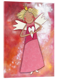 Acrylic glass  Blonder guardian angel for girls - Atelier BuntePunkt