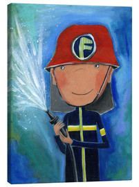 Canvas  My little hero Fireman Julius - Atelier BuntePunkt