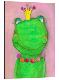 Aluminium print  The frog queen and the colorful crown - Atelier BuntePunkt