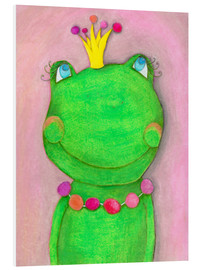 Foam board print  The frog queen and the colorful crown - Atelier BuntePunkt