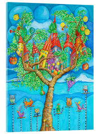 Acrylic print  the story of the tree house and his friends - Atelier BuntePunkt