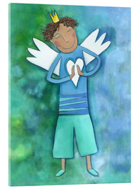 Acrylic glass  Guardian Angels for boys - Atelier BuntePunkt