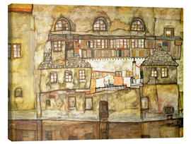 Canvas print  House on a River (Old House I) - Egon Schiele