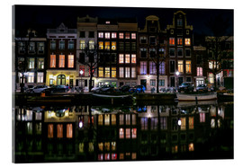 Acrylic glass  Amsterdam   Keizersgracht in a mirror - Sabine Wagner