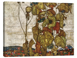 Canvas print  autumn sun - Egon Schiele