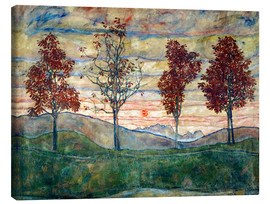 Canvas print  Four trees - Egon Schiele