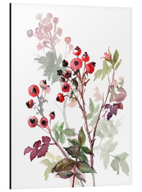 Alu-Dibond  Rosehips - Verbrugge Watercolor