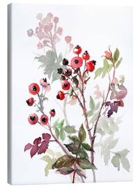 Canvas  Rosehips - Verbrugge Watercolor