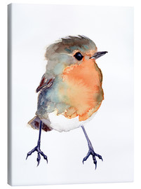 Canvas print  Baby robin in watercolour - Verbrugge Watercolor