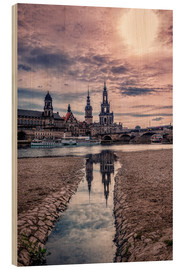 Wood print  Old quarter Dresden - Stefan Becker