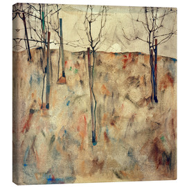 Canvas print  Bare Trees - Egon Schiele