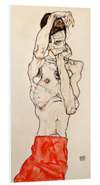 Forex  Male nude, standing, with red loincloth - Egon Schiele