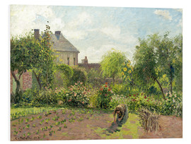 Foam board print  The Artist's Garden at Eragny - Camille Pissarro