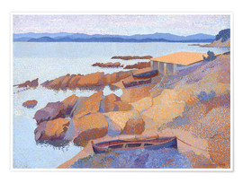 Premium poster  Coast near Antibes - Henri Edmond Cross